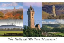 National Wallace Monument Composite 2 Postcard (HA6)