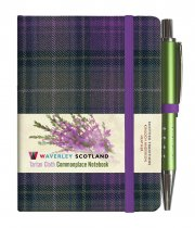 Tartan Cloth Notebook Mini: Heather (Jun)