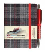 Tartan Cloth Notebook Mini: Castle Grey (Jun)