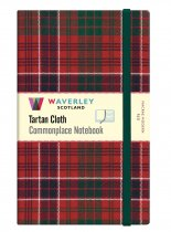 Tartan Cloth Notebook Large: MacRae Modern Red