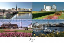 Ayr Composite Postcard (HA6)