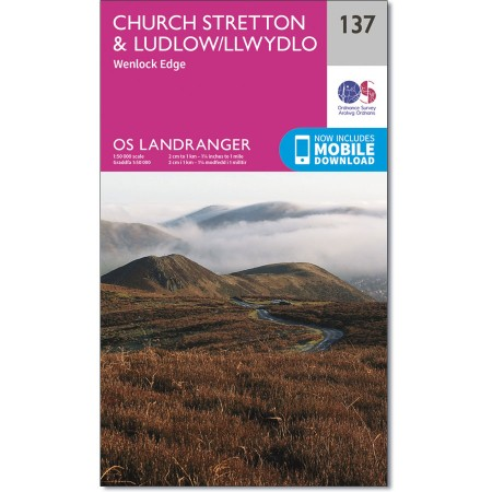 Landranger 137 Ludlow & Church Stretton, Wenlock Edge