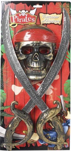 Pirates Buccaneer Adventure Mask & Sword