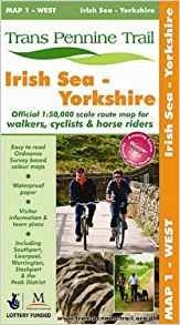 Trans Pennine Trail West Map 1 Irish Sea - Yorkshire