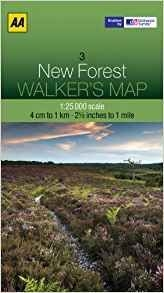 Walkers Map 03 New Forest