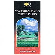 Superwalker Map Three Peaks Yorkshire Dales