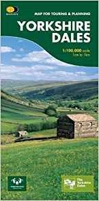 Cycle Touring Map Yorkshire Dales For Cyclists