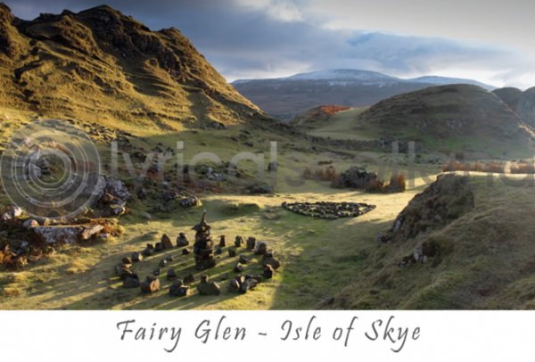 Fairy Glen, Isle of Skye Postcards (H A6 LY)