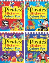 Pirates Sticker & Colour Fun (4 Asst) (Brown Watson)