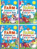 Farm Sticker & Colour Fun (4 Asst) (Brown Watson)