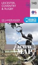 Landranger Active 140 Leicester, Coventry & Rugby
