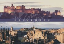 Castle & Old Town Comp, Edinburgh Postcard (H Std CB)