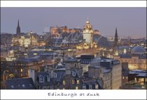 Edinburgh at Dusk, Edinburgh Postcard (H Std CB)