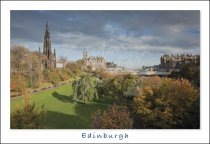 Scott Monument & Princes Street Gardens, Edinburgh Postcard (H S
