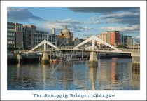Tradeston & Squiggly Bridge, Glasgow Postcard (H Std CB)