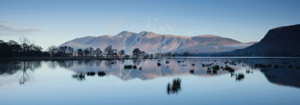 Skiddaw across Derwent Water, Lake District 2 Postcard (H Pan CB