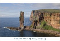 Old Man of Hoy & St John's Head Postcard (H Std CB)