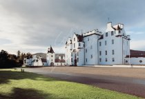 Blair Castle, Perthshire (front entrance) Postcard (H Std CB)