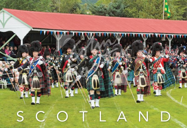 Braemar Highland Gathering, Deeside Postcard (H Std CB)