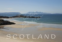 Eigg, Rum & Sands of Morar, Highlands Postcard (H Std CB)