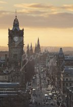 Princes Street at dusk, Edinburgh 1 Postcard (V Std CB)