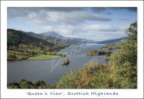 Loch Tummel & Schiehallion from Queen's View Postcard (H Std CB)