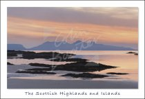 Rum from near Arisaig, West Highlands 2 Postcard (H Std CB)