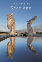 Kelpies at dawn, Falkirk Postcard (V Std CB)
