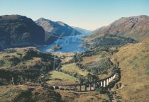 Glenfinnan & Loch Shiel, West Highlands From Air Postcard (H Std