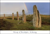 Ring of Brodgar Stone Circle, Orkney Postcard (H Std CB)