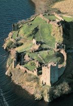 Urquhart Castle, Loch Ness From Air Postcard (V Std CB)