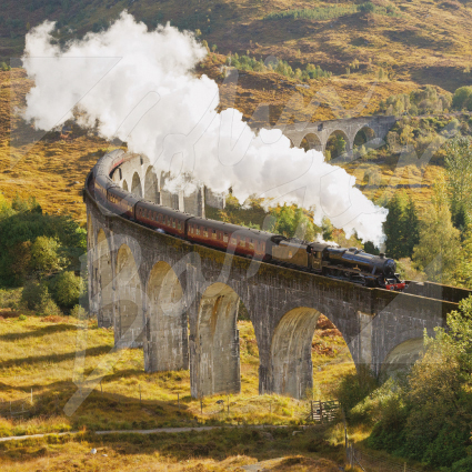 Glenfinnan Viaduct, Lochaber Greetings Card (CB)