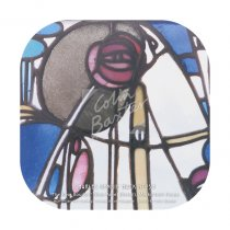 Mackintosh Rose Boudoir, Glass Panel (Hunterian) Coaster
