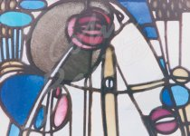Mackintosh ' Rose Boudoir' Glass Panel Magnet (H CB)