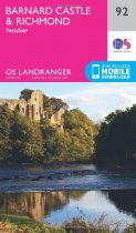 Landranger 92 Barnard Castle & Richmond