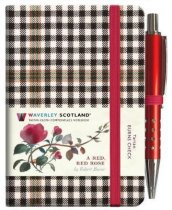 Tartan Cloth Notebook Mini: Red Red Rose (Jan)