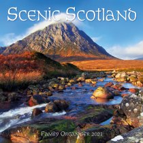2021 Calendar Scenic Scotland Fam Organiser (2 for £6v) (Mar)