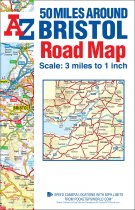 50 Miles Around Bristol Road Map