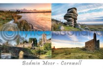 Bodmin Moor, Cornwall Composite Postcard (H A6 LY)