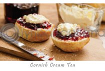 Cornish Cream Tea Postcard (H A6 LY)