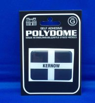 Kernow Flag Rectangle Polydome Stickies