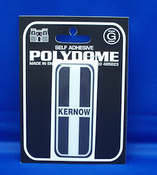 Kernow Flag Number Plate Polydome Stickies