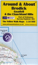A&A Map Brodick, Goatfell & the Clauchland Hills & Walks