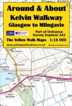 A&A Map Kelvin Walkway Glasgow to Milngavie