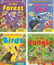 Animal World Sticker Activitiy: 4 Asst Titles