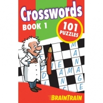 BrainTrain 101 Puzzles Crosswords Book 1