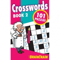 BrainTrain 101 Puzzles Crosswords Book 2