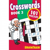 BrainTrain 101 Puzzles Crosswords Book 3