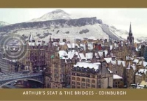 Bridges and Arthurs Seat in the Snow (HA6C)