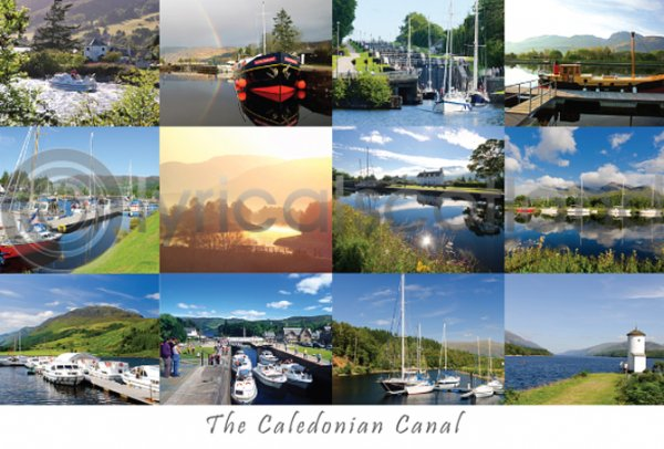 Caledonian Canal Composite Postcard (H A6 LY)